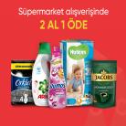 [hepsiburada] Süpermarket Ürünlerinde 1 Alana 1 Bedava! -  ÜSTELİK %70'e VARAN EK İNDİRİMLERLE
