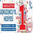 AnadoluJet 9. Yıl Kampanyası 1TL'ye Uçak Bileti (23 Mayıs - 22 Haziran 2017 Uçuşları İçin)