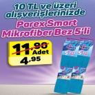 [a101] 10TL ve üzeri alışverişte Parex Smart Mikrofiber Bez 5'li 4,95TL - 25.11 - 1.12.2017