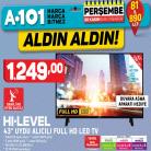 "[a101] HI-LEVEL 43"" Uydu Alıcılı Full HD LED TV 1.249,00TL - 30.11.2017"