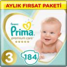 [Amazon Türkiye] Prima Premium Care 3 Numara Midi 184'lü Aylık Fırsat Paketi Bebek Bezi 158TL - 04.04.2020
