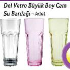 [Kipa] Del Vetro Büyük Bo Cam Su Bardağı