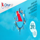 OnurAir ile 10 Temmuz 2015'e Kadar Avrupa Uçuşları 39$