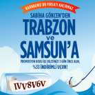 AnadoluJet Trabzon ve Samsun Uçuşları %33 indirimli